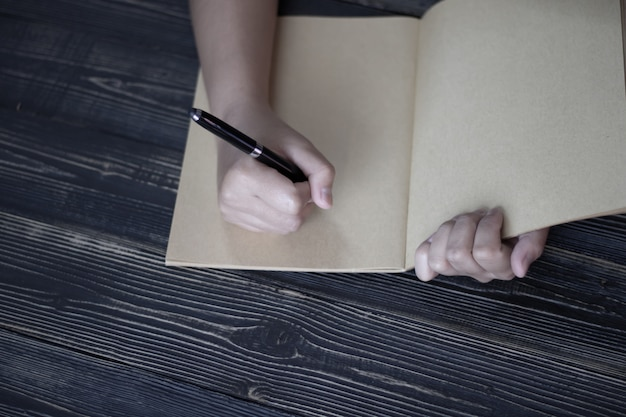 Close up of hand creative idea of work