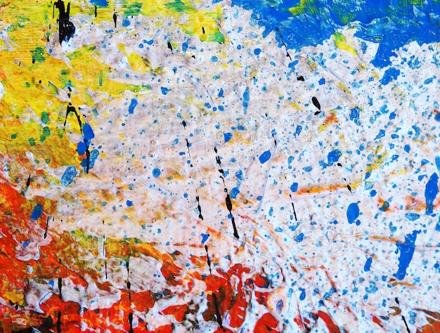 Close up hand draw colorful oil painting abstract texture.