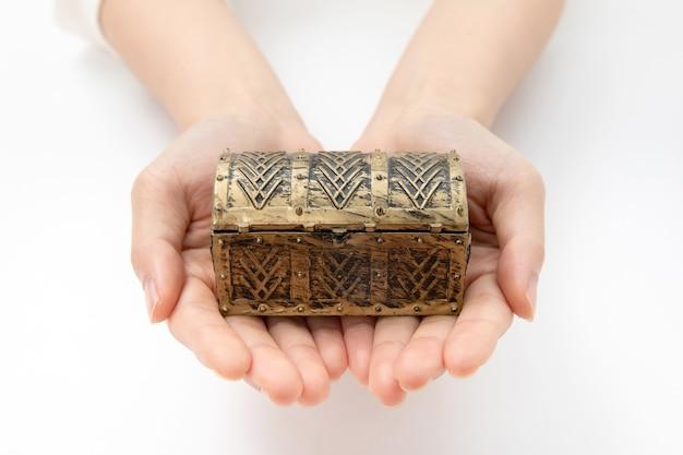 Close up of hand protect treasure