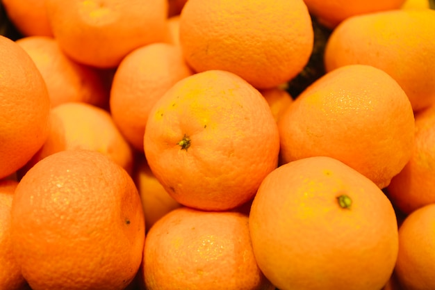 Close-up heap of tangerines