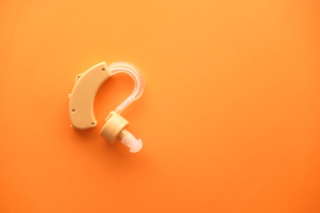 Close up on hearing aid equipment isolated