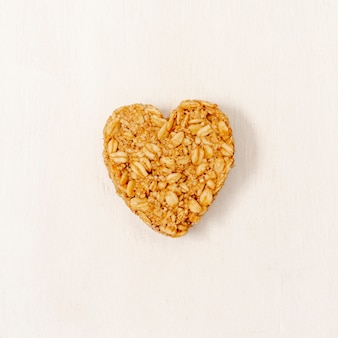 Close-up heart shape cereal