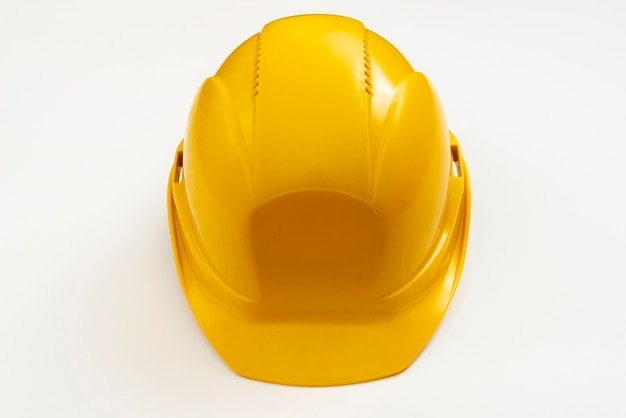 Close-up high angle view construction helmet