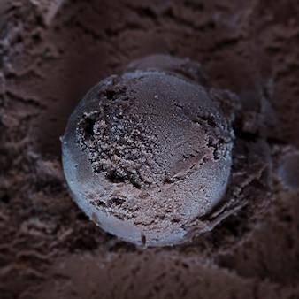 Close-up ice cream scoop