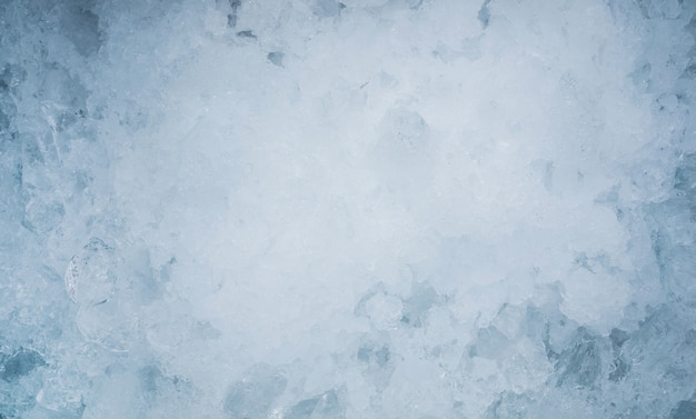 Close up ice textured background