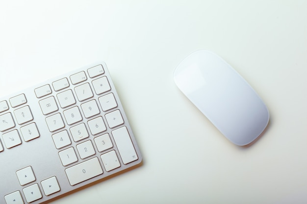 Close up image of computer office keyboard
