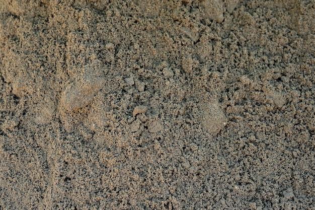 모래 매크로 배경 이미지를 닫습니다. 건설 모래 이미지 평면도