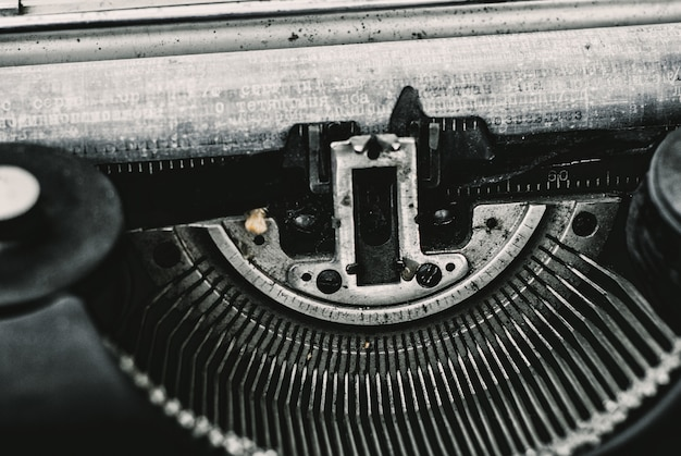 Close up image of typewriter