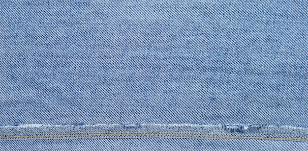 Close up of inside blue jeans texture surface.