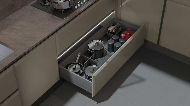 Close-up interior design of a kitchen detail