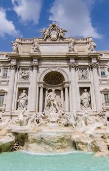 Close up into Trevi Fountain
