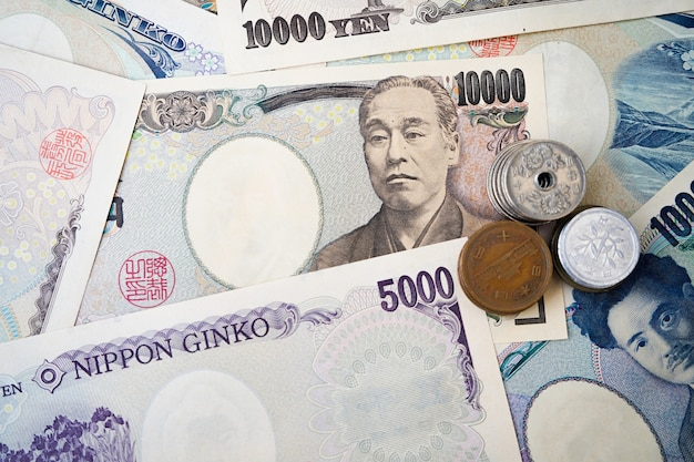 日本の円札を閉じる