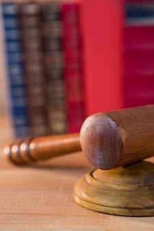 Close-up of judges gavel