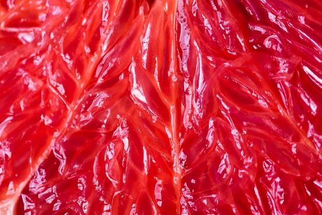 Close-up of juicy grapefruit pulp