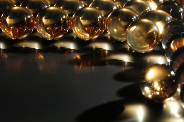 클로즈업 큰 투명 유리 공
