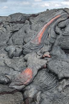 Close up lava flow