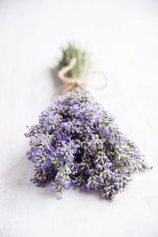 Close up of a lavender bouquet.