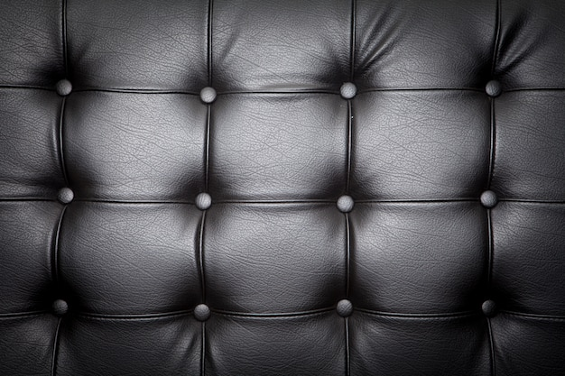Close up of leather sofa for background