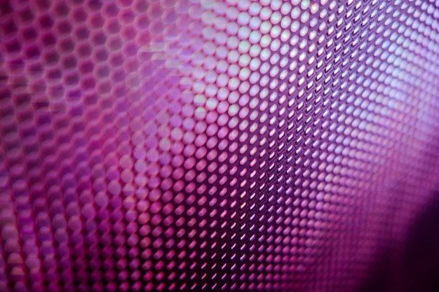 Close up of led blurred screen