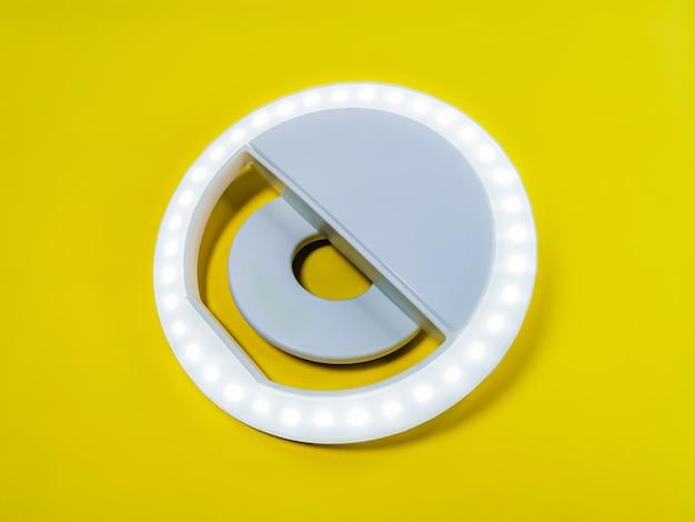 노란색에 클로즈업 led 셀카 원형 링 조명 램프