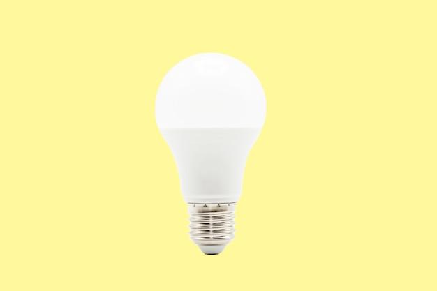 Close up led white light bulb