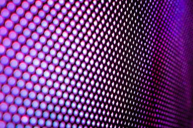 Close up led размытый экран.
