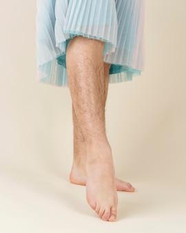 다리 체모를 닫습니다