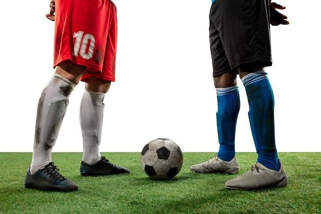 프로 축구, 축구 선수의 다리를 닫습니다