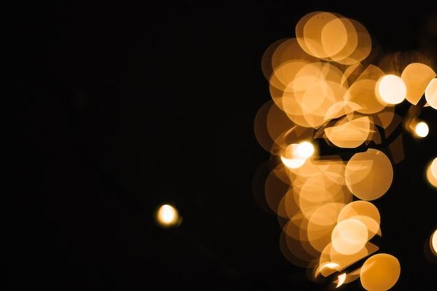 Close-up lights of garland