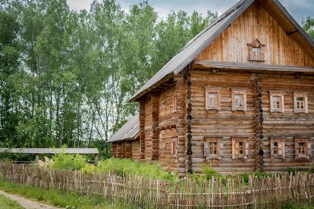 Close up of log house