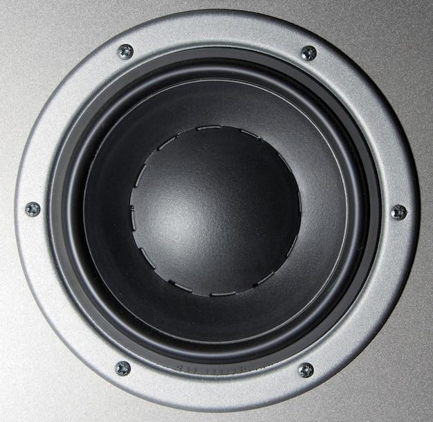Close-up of a loudspeaker