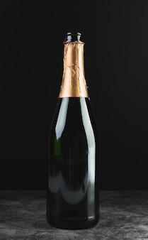 Close-up luxury champagne bottle