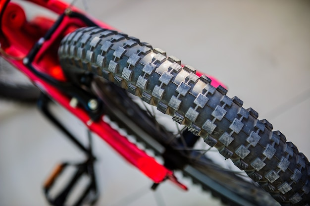 Close up macro image of bicycle tire. sport conceptual image.