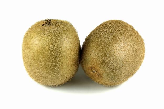 Close up macro kiwi fruit isolated on white background
