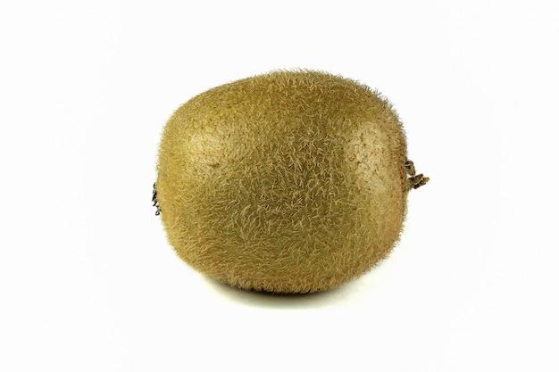 Close up macro kiwi fruit isolated on white