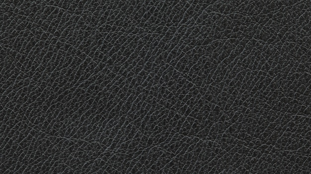 Close up, macro shot of natural black leather texture background