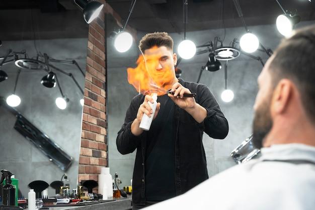 Close up man at salon