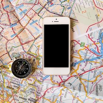 携帯電話でマップの背景を閉じる