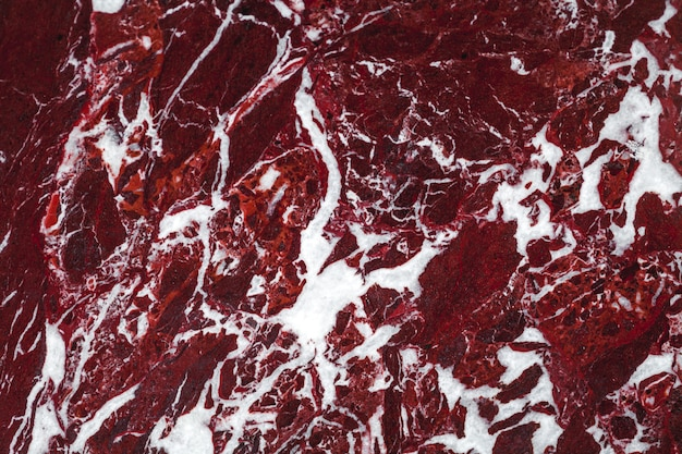 Close up of marble burgundy texture background