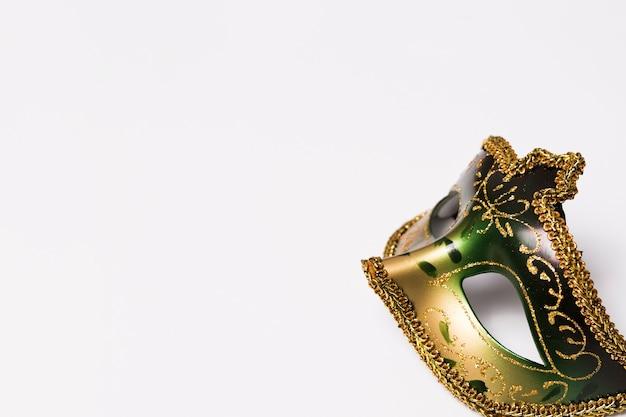 Close-up mask on white