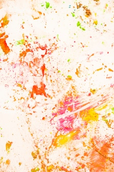 Close-up of messy colored powder backdrop