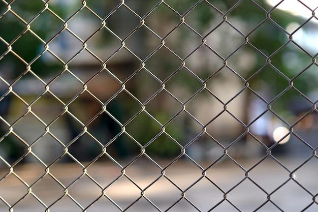Close up metal fence