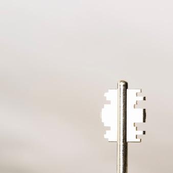 Close-up of metal key