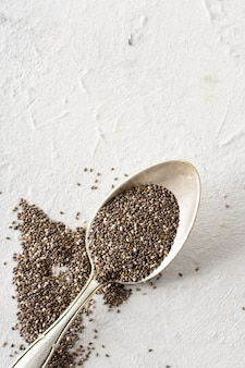 Close-up metal spoon with pepper