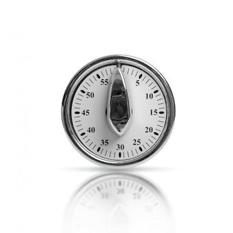 Close-up of metallic timer