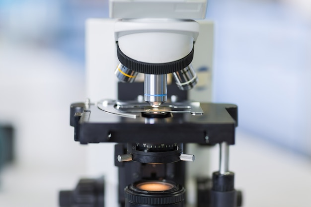 Close up of microscope at the blood laboratory
