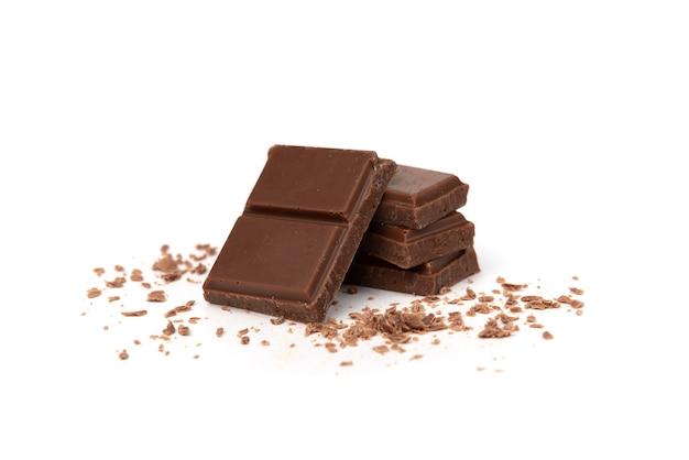 Плитка молочного шоколада крупным планом