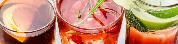 Close-up mix di long drink
