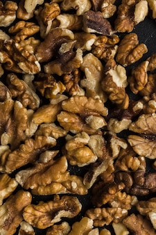 Close-up mixture of dry walnuts