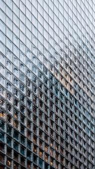 クローズアップの近代建築のオフィスビル